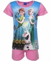 Frozen korte pyjama roze trend