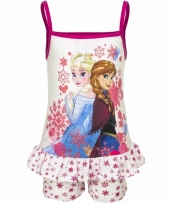 Frozen korte pyjama wit roze voor meisjes trend