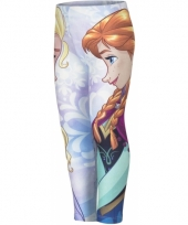 Frozen legging lichtblauw voor meisjes trend