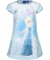 Frozen nachthemd let it go blauw trend