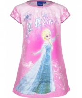 Frozen nachthemd let it go roze trend