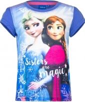 Frozen t-shirt paars voor meisjes trend