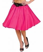Fuchsia fifties rok met petticoat voor dames trend