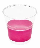 Fuchsia roze camping bekers 10 stuks trend