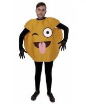 Fun wink emoticon verkleedkleding volwassenen trend 10078602