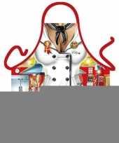 Funny bbq schorten chef kok trend