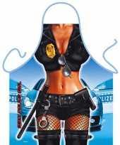 Funny bbq schorten politie vrouw trend