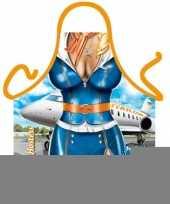 Funny bbq schorten stewardess trend