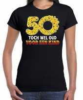 Funny emoticon 50 toch wel oud voor een kind cadeau shirt zwart trend