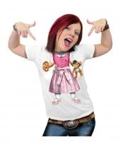 Funny shirts dirndl print trend
