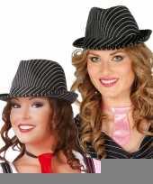 Gangster hoed zwart wit voor dames heren trend