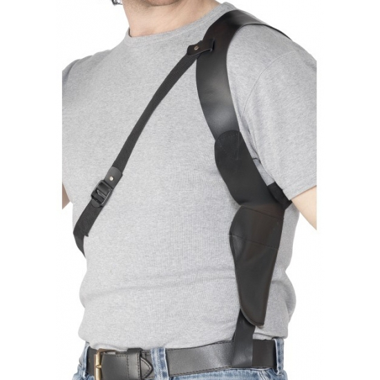 Gangster zwarte schouder holster trend