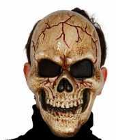 Gebarsten schedel masker voor skelet kostuum trend