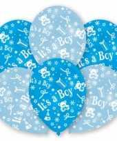Geboorte jongen ballonnen 6 stuks trend