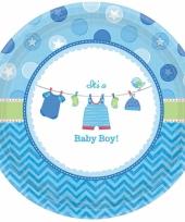 Geboorte jongen bordjes baby boy trend
