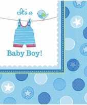 Geboorte jongen servetten baby boy trend