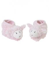 Geboorte kado roze lammetjes slofjes trend