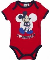 Geboorte kadootjes mickey romper rood trend