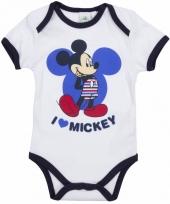 Geboorte kadootjes mickey romper wit trend