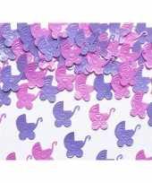 Geboorte versiering kinderwagens confetti trend