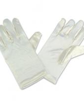 Gebroken witte satijnen handschoenen voor kinderen trend