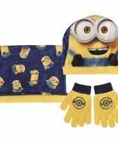 Geel blauwe minions winterset voor jongens trend