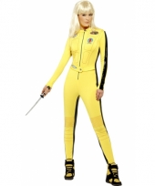 Geel kill bill outfit voor dames trend