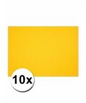 Geel knutselpapier a4 formaat 10 stuks trend
