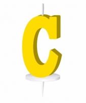 Geel naam kaarsje letter c trend