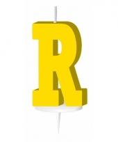 Geel naam kaarsje letter r trend
