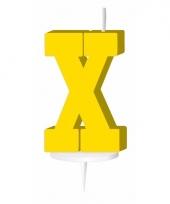 Geel naam kaarsje letter x trend