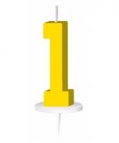 Geel nummer kaarsje cijfer 1 trend 10034910