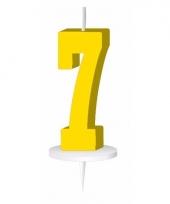 Geel nummer kaarsje cijfer 7 trend