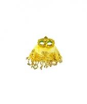 Geel oogmasker met glitters trend