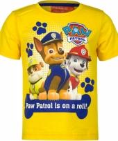Geel paw patrol t-shirt voor kinderen trend