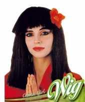 Geisha pruik met bloem trend