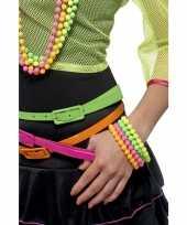 Gekleurde armbanden neon kleur 3x trend