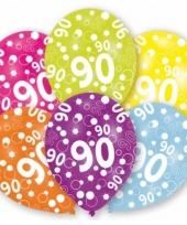 Gekleurde ballonnen 90 jaar trend