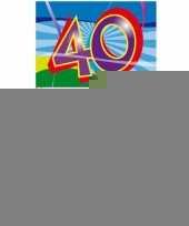 Gekleurde cocktail prikkers 40 jaar 100 stuks trend
