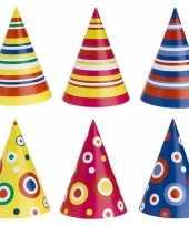 Gekleurde feesthoedjes 50 stuks trend