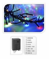 Gekleurde kerstboom verlichting 384 lampjes trend