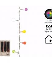 Gekleurde led lampjes 20 lampjes 1 m trend