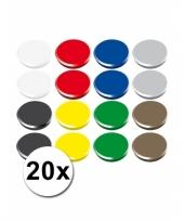 Gekleurde magneten setje 20 stuks trend