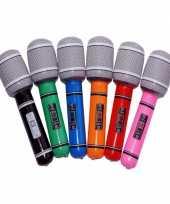 Gekleurde microfoons opblaasbaar trend