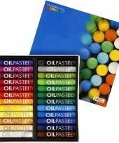 Gekleurde oliepastelkrijt 24 stuks trend