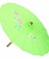 Gekleurde paraplu chinese stijl groen trend