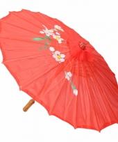 Gekleurde paraplu chinese stijl rood trend