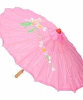 Gekleurde paraplu chinese stijl roze trend