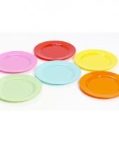 Gekleurde plat stevig ontbijtbord voor kinderen 20 cm trend