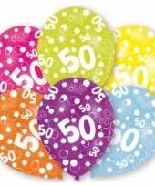 Gekleurde sarah verjaardag ballonnen 50 jaar 12 stuks trend